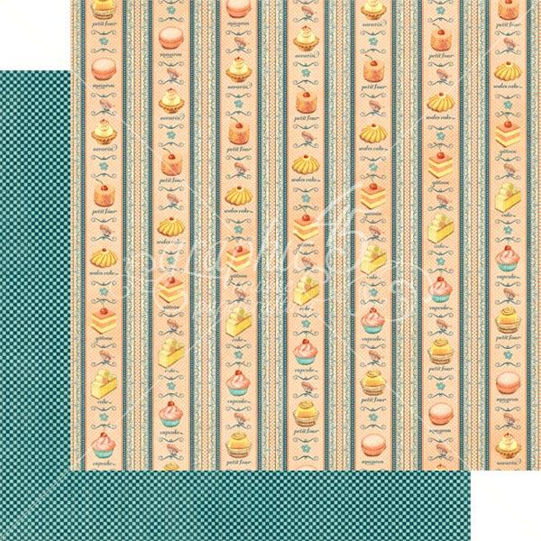 Graphic 45 - Cafe Parisian - Petits Four 12x12 Paper