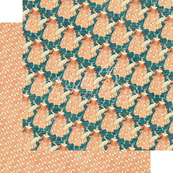 Graphic 45 - Cafe Parisian - Crepe Suzette 12x12 Paper