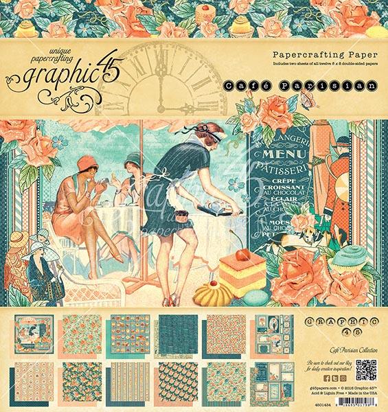 Graphic 45 - Cafe Parisian - 8x8 Pad