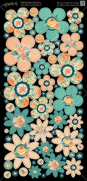 Graphic 45 - Cafe Parisian - Flowers