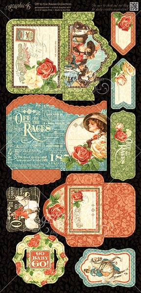 Graphic 45 - Off to the Races - Tags & Pockets