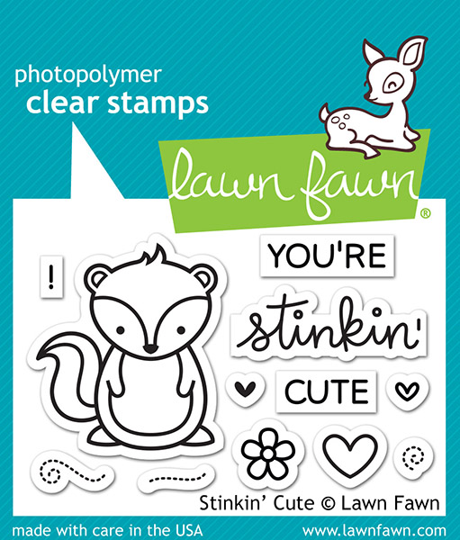 Lawn Fawn - Stamps - Stinkin Cute Stamp Set