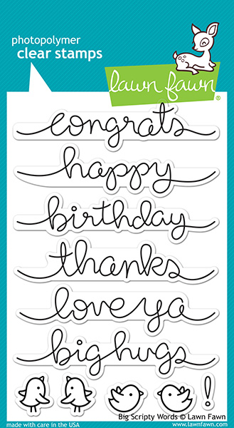 Lawn Fawn - Stamps - Big Scripty Words Stamp Set