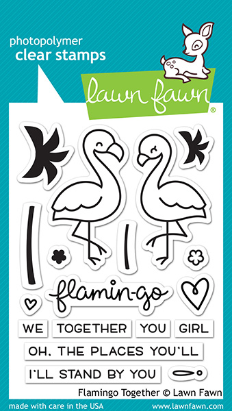 Lawn Fawn - Stamps - Flamingo Together Stamp Set