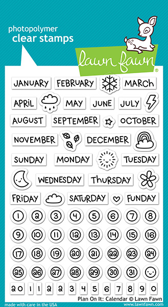 Lawn Fawn - Stamps - Plan on It: Calendar Stamp Set