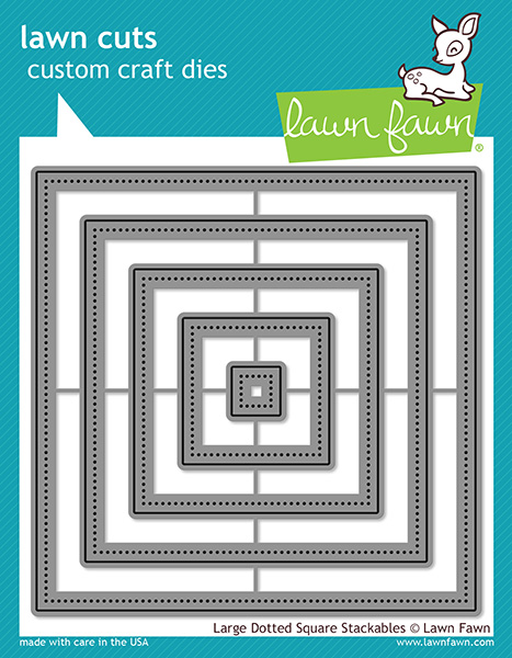 Lawn Fawn - Lawn Cuts - Large Dotted Square Stackables Dies