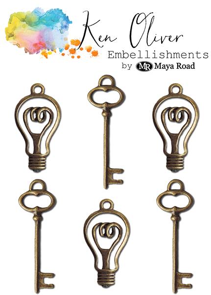 Maya Road - Ken Oliver - Charms - Bulbs and Keys