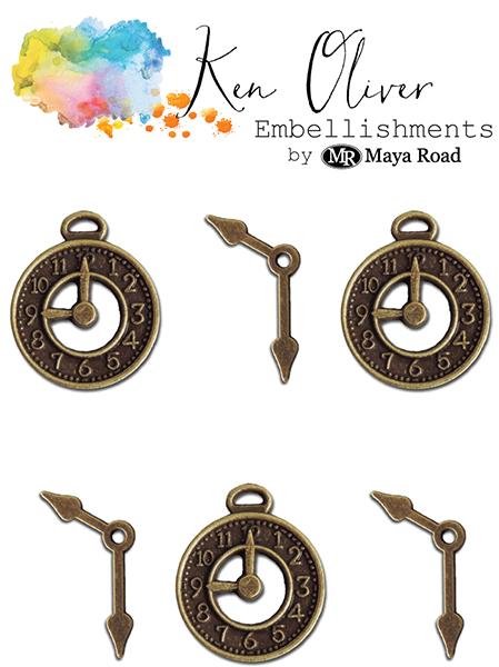 Maya Road - Ken Oliver - Charms - Clocks & Hands