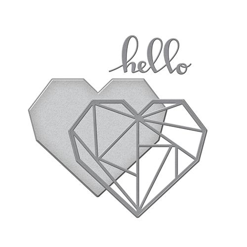 Spellbinders - Shapeabilities - Hello Geo Heart Die
