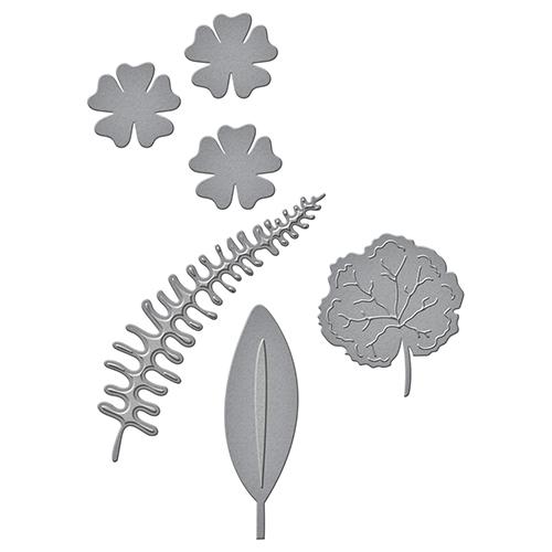 Spellbinders - Shapeabilities - Geraniums and Leaves Die