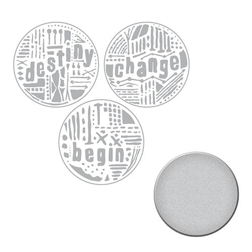 Spellbinders - Seth Apter - Word Circles 1 Stamp & Die