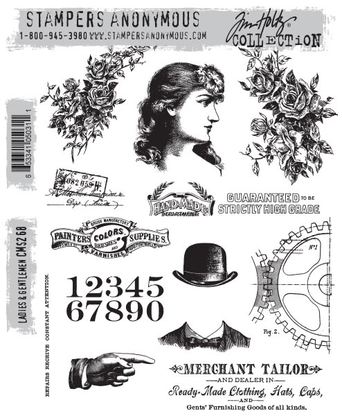 Stampers Anonymous - Tim Holtz - Ladies & Gentlemen Stamps