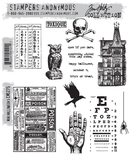 Stampers Anonymous - Tim Holtz - Mini Halloween #5 Stamps