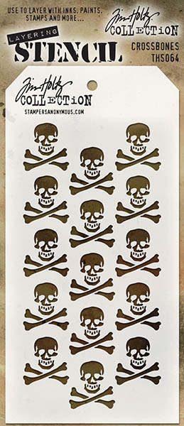 Stampers Anonymous - Tim Holtz - Crossbones Stencil