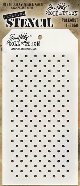 Stampers Anonymous - Tim Holtz - Polkadot Stencil