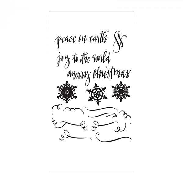 Sizzix - Clear Stamps - Seasonal Calligraphy by Sharyn Sowell