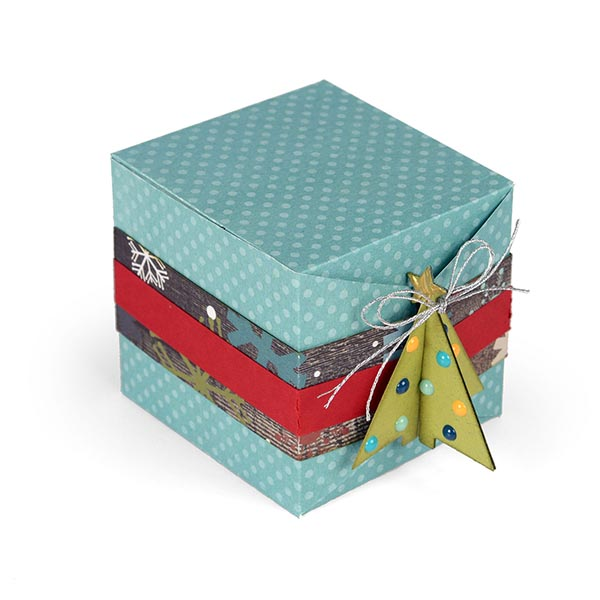 Sizzix - Thinlits Die Set - - Christmas Tree Gift Box by Lindsey Serata