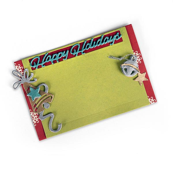 Sizzix - Thinlits Die Set - 5 Pack - Gift Card Holder - Happy Holidays by Lindsey Serata