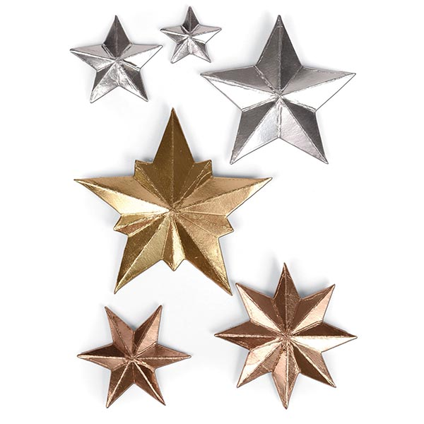 Sizzix - Tim Holtz Alterations - Thinlits Die Set - 6 Pack - Dimensional Stars