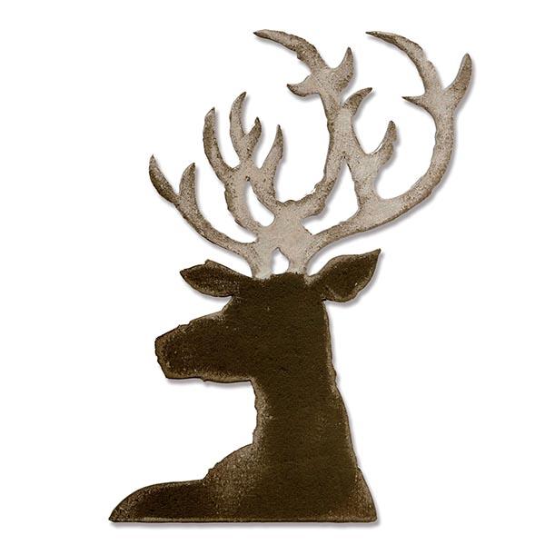 Sizzix - Tim Holtz Alterations - Bigz Die - Dashing Deer