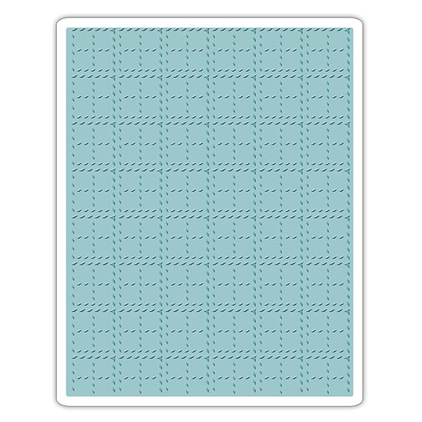Sizzix - Tim Holtz Alterations - Texture Fades Embossing Folder - Stitched Plaid