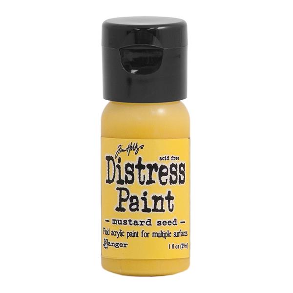 Ranger - Tim Holtz - Distress Paint Flip Cap - Mustard Seed 1 oz