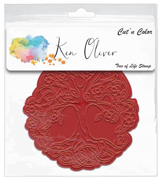 Ken Oliver - Cut 'n Color - Tree of Life Stamp