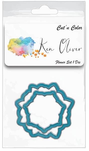 Ken Oliver - Cut 'n Color - Flower Set 1 Die