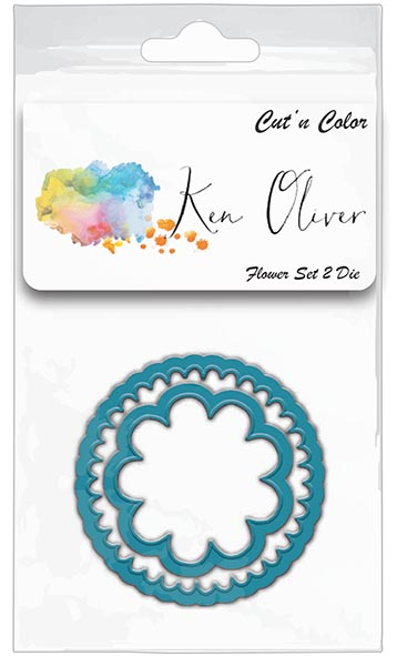 Ken Oliver - Cut 'n Color - Flower Set 2 Die
