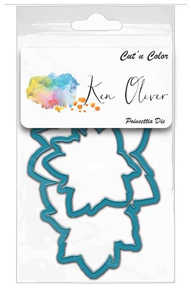 Ken Oliver - Cut 'n Color - Double Poinsettia Die