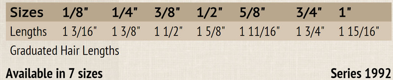 """Mack Soft Stroke Lettering Brush Series 1992: #1/2, Hair Length 1-5/8"""""""