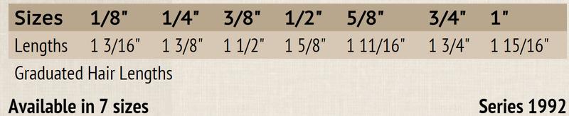 """Mack Soft Stroke Lettering Brush Series 1992: #3/4, Hair Length 1-3/4"""""""