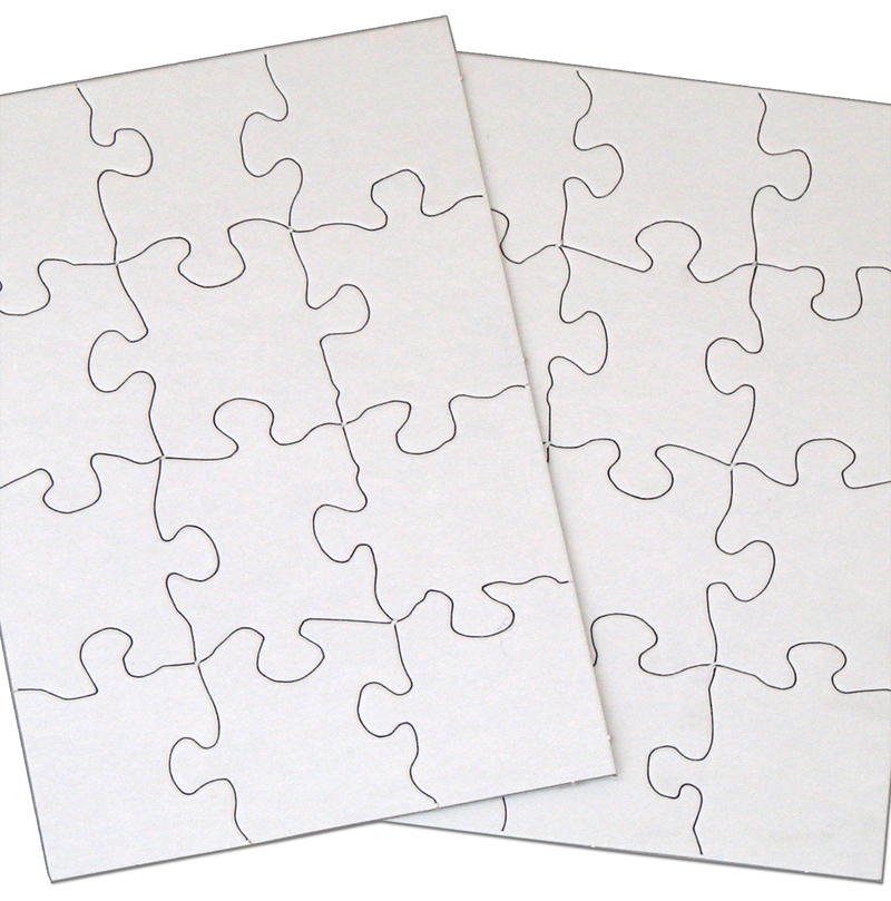 """Inovart Puzzle-It Blank Puzzles 12 Piece 8-1/2"""" x 11"""" - 12 Per Package"""