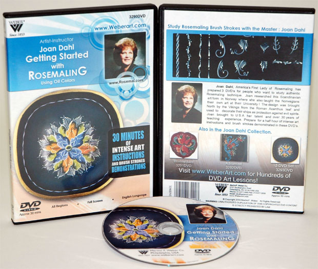 Jaon Dahls DVD Getting Started With Rosemaling Oil Painting (1 Hour)