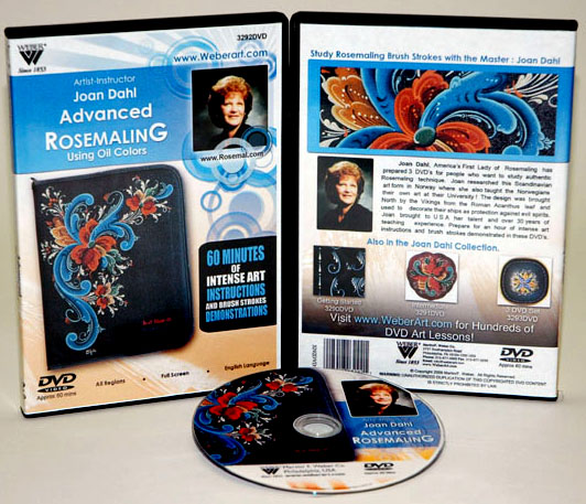 Joan Dahl DVD: Advanced With Rosemaling Oil Painting, (1 Hour)