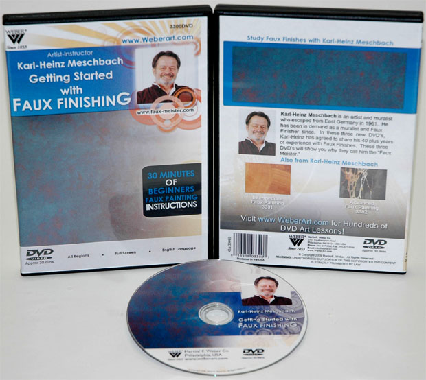 Karl-Heinz Meschbach\'s Getting Started In Faux, Finishing Oil Painting, DVD: (1 Hour)
