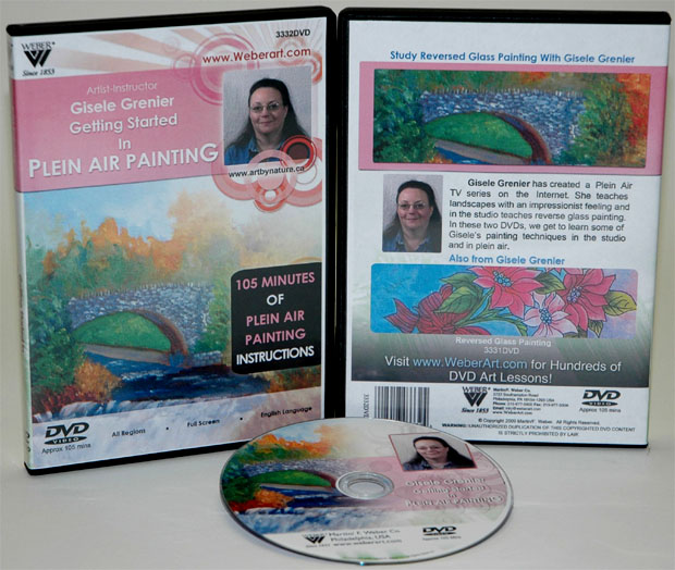 Gisele Greniers Getting Started  Air Oil Painting In Plein DVD: 1.5 Hour