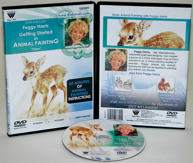 Peggy Harris's Getting Started In Animal Oil Painting Fawn DVD: 1 Hour