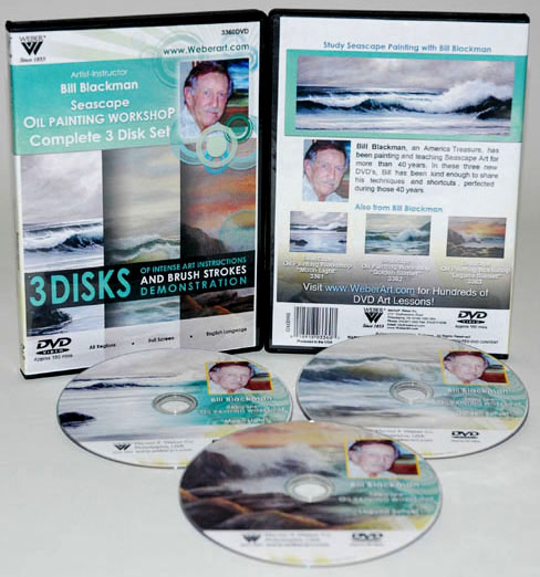 Bill Blackman Seascape Oil Painting: 3 Hours DVDs ( 3361, 3362, & 3363: 1 Hour Each)