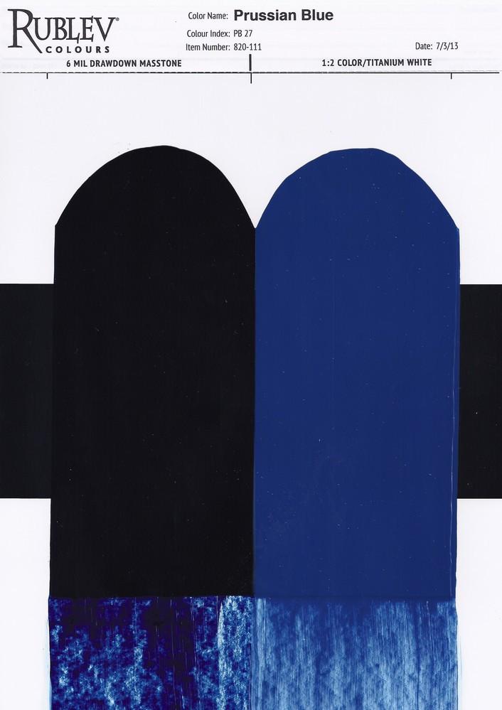 Prussian Blue Oil Paint (drawdown)