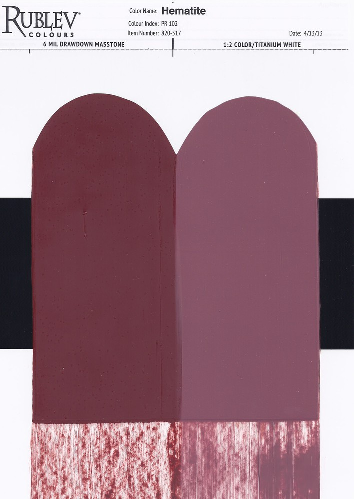 Rublev Colours Hematite Artists Oil Drawdown