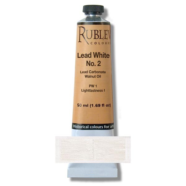 Rublev Colours Lead White #2 Artists Oil (50 ml)