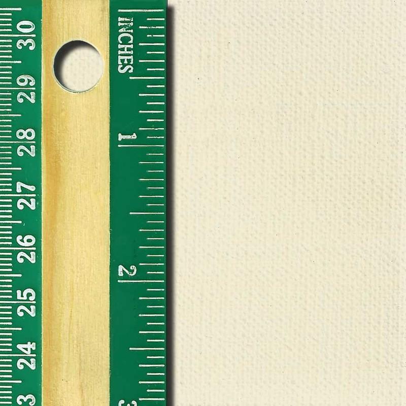 Linen Canvas Roll, Medium, oil-primed side