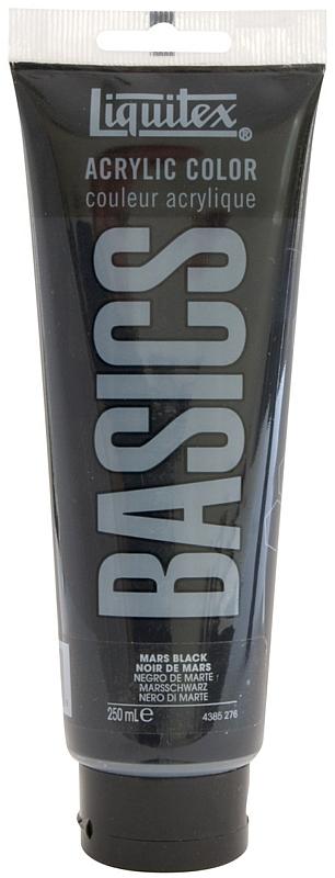 Liquitex Basics Value Acrylic Paint: Mars Black, 8.5 oz. (250 ml) Tube