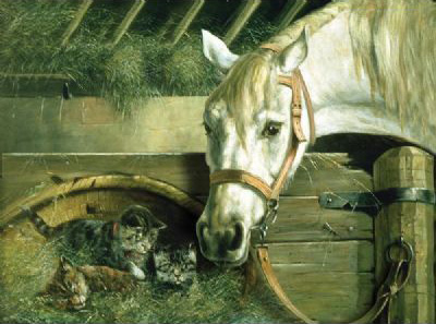 Reeves Large Painting by Numbers :Horse and Kitten