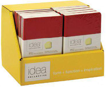 """Tops Idea Collective 5.5"""" x 3.5"""" Premium Soft Cover Red/Black 2-Pack Journal Display"""