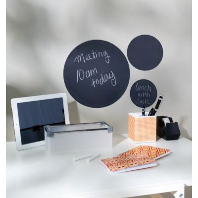 Wallies Peel & Stick Chalkboard Sheets : Black Sheets, Circles