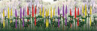 """Wee Scapes Architectural Model Lupines 0.5"""" 3-Pack"""