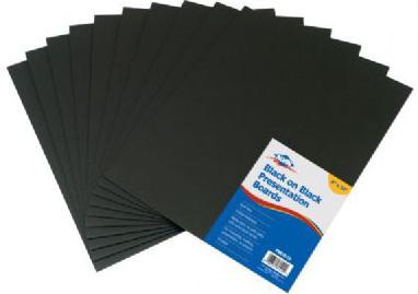 """Alvin Black On Black Presentation Boards : 8"""" x 10"""""""