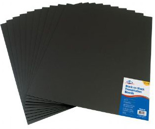 "Alvin Black On Black Presentation Boards :16"" x 20"""